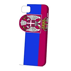 Case FunDiy For Touch 4 Case Cover Vogue Version - 3D Full Wrap - Flag of Serbia