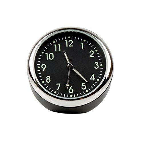 idain Car Dashboard Clock - Mini Vehicle Clock Decoration (Black, Digital Luminous)