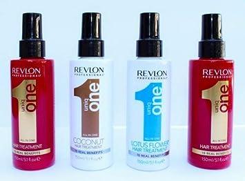 Revlon Uniq One All in One Hair Treatment 5.1 oz 150ml Multi-Pack 2 Original, 1 Coconut, 1 Lotus