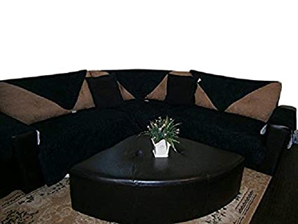 OctoRose Quilted Micro Suede Sectional Sofa Throw Pad Throw Furniture  Protector in Different Size (Black, 35x35)