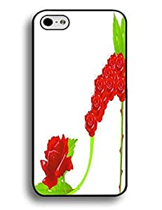 Phone Accessries Clossy Hard Plastic Case Rose Green Leaves Case For Ipod Touch 5 Cover