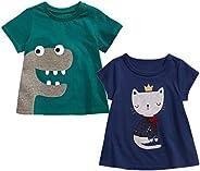 Sampheya Baby Girls' Toddler T-Shirts Kids Short Sleeve Tees Clothes 2-