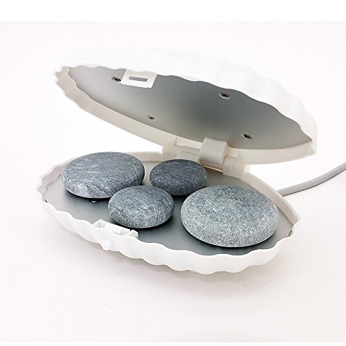 (Royal Massage Clamshell Hot Stone Heater with 4 Hot Rocks)