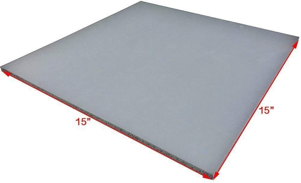 INTBUYING 15x15inch Rubber Silicone Heat Press Foam Pad No-Stick Heat Press Mat Replacement Accessory