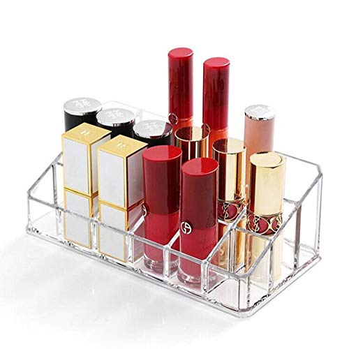 Weiai Lipstick Holder 18 Spaces Lipgloss Organizer, 3 Rows - Multi Level, Makeup Holder & Cosmetics Storage Display