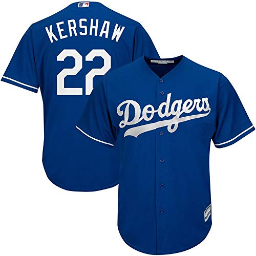 Clayton Kershaw Los Angeles Dodgers Cool Base Player Jersey #22- Blue XL