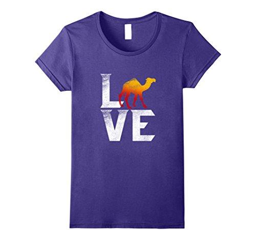 United Arab Emirates Costume (Womens Cute Arabian Camel Dromedary Love Camels T shirt Travel Tee Small Purple)