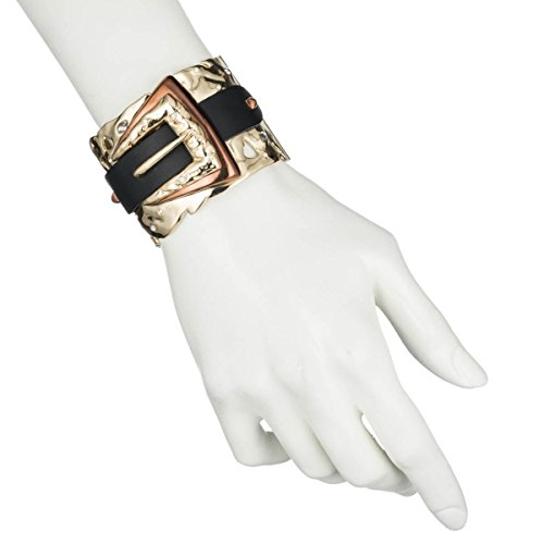 Alexis Bittar Large Hinge Bracelet Buckle Cuff Bracelet W/Leather Detail & Swarovski Crystal Accent by Alexis Bittar (Image #4)