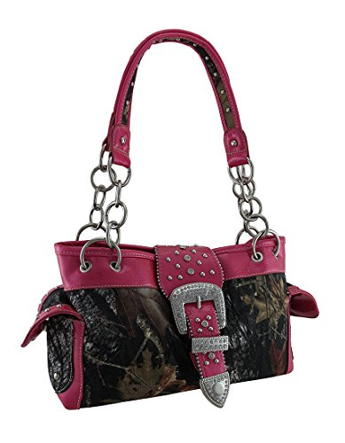 Camouflage Buckle (Camouflage Rhinestone Western Buckle Purse Pink)