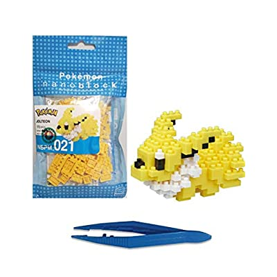 Jolteon Nanoblock Pocket Monsters + Gift Tweezers Plastic Cube Building Blocks (Smartoys): Toys & Games