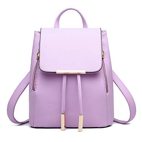 (Pahajim 2018 Fashion women purse cute leather backpack for women Schoolbag (purple))