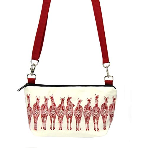 - Multifunctional Crossbody Purse & Belt Bag - Zebra Fabric & Waterproof Nylon - Machine Washable - Lightweight - Made in USA