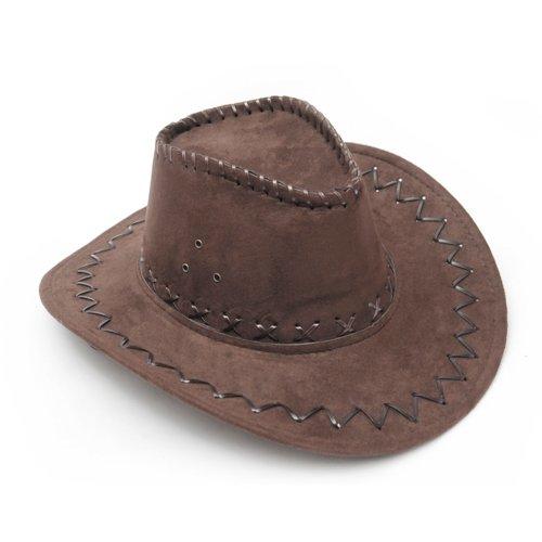 EBS Store Dark Brown Western Cowboy Cowgirl Cattleman Hat for KChildren Party Costume -
