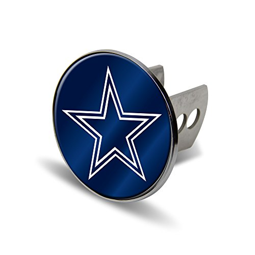 Rico NFL Dallas Cowboys Laser Cut Metal Hitch Cover, Large, Silver