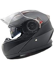 Nat Hut Modular Motorbike Helmet ECE | Scooter Motorcycle Crash Helmet Mens, Ladies with Sun Visor, Bluetooth ready