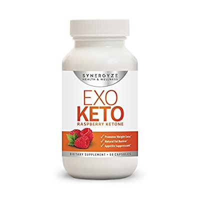Premium Quality Formula Raspberry Ketones   EXO KETO   Boost the Break Down of Fat & Increase Energy Levels   60 Capsules   One-Month Supply