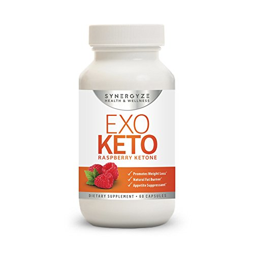 Premium Quality Formula Raspberry Ketones | EXO KETO | Assists in weight loss and acts as an appetite suppressant| 60 Capsules | One-Month Supply| FREE Ebook with order