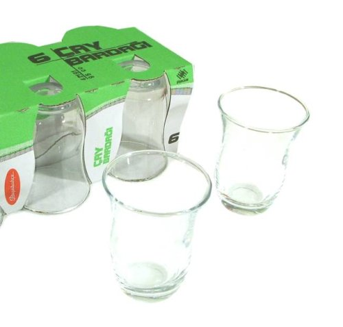 Turkish Tea Glass Set – Plain (6 Pcs)