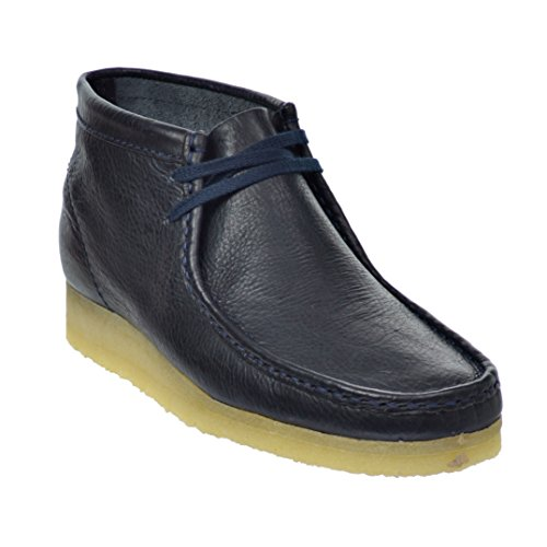 CLARKS Wallabee Men's Boots Navy 26116465 (9 D(M) US)