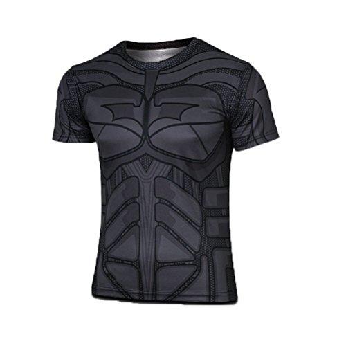 Samanthajane Compressione Uomo Pipistrello CorteDa Dress A Superhero Fancy Born2ridetm ginnastica Maniche Ltd ciclismo Clothing H2DI9E