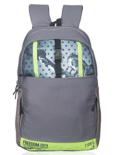 Killer Liberty Laptop Backpack for 15.6 inch Laptop – Stylish Everyday use Backpack – Trendy College Backpack Bags – Grey + Green