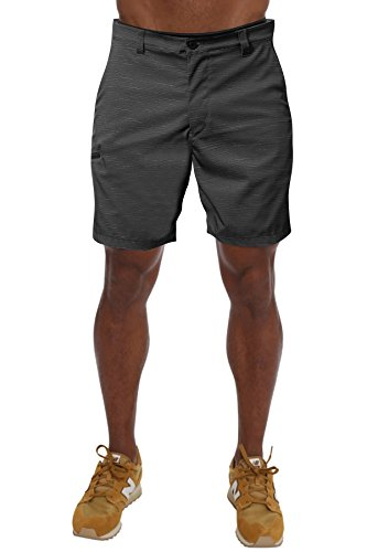PULI Men's Outdoor Water Resistant Hidden Expandable Waist Flat Front Classic Fit Sports Golf Shorts – DiZiSports Store