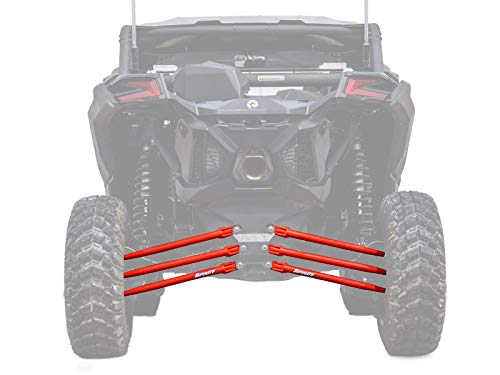 SuperATV Heavy Duty Round Tube Rear Radius Arms/Rods for Can-Am Maverick X3 64