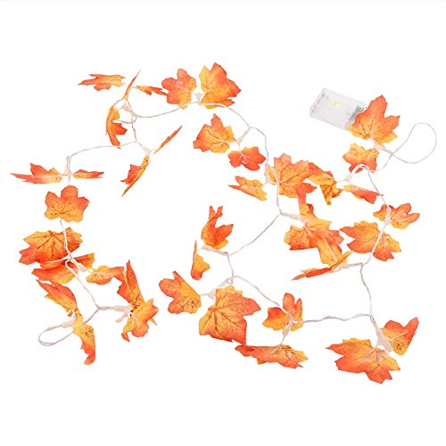 Price comparison product image OKBY Lights String - 20 PCS Lights String Lighting Decoration LED Bulbs with Battery Box Maple Leaves for Garden