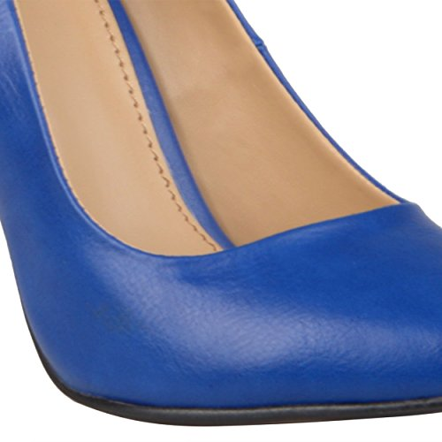 Journee Collection Womens Pointed Toe Matte Finish Pumps Blue Matte ZOALF5u3be