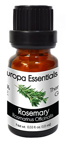 Europa Essentials 100% Pure Therapeutic Grade Essential Oils, 31 Aromatherapy Scents Collection – Rosemary, 10ml (Singles Caps Herbal 100)