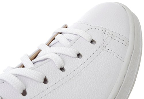 Insole White Oval Taller Natural Fashion Leather Classic Sneakers 6 Holes BqzrZwXB
