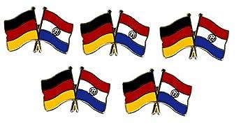 Paraguay Freundschaftspin Yantec Pin Flagge 5er Pack Deutschland