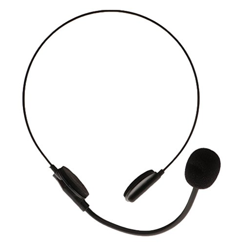 Fityle Halloween Fun Plastic Black Mic Microphone Headset Toy Adults Party Dressing up Supplies Props -
