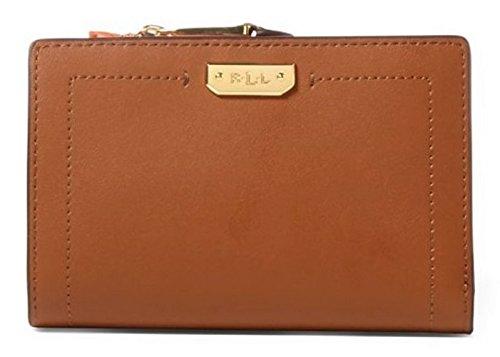 LAUREN Ralph Lauren Women's Dryden New Compact Wallet Field Brown/Monarch Orange One Size