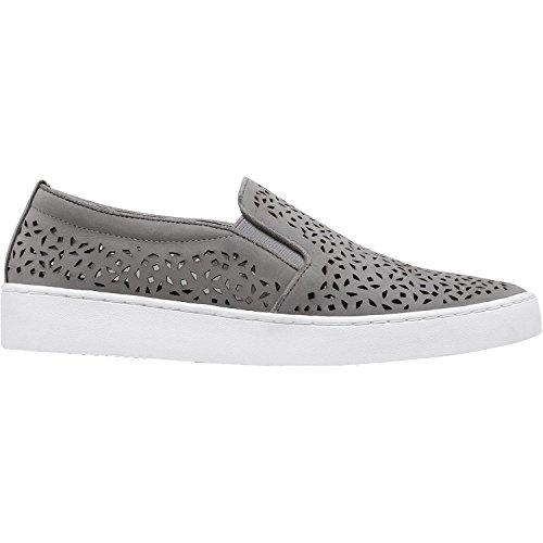 Vionic Women's Splendid Midi Perf Slip-On Loafer Grey Size 5