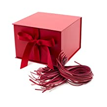 Hallmark Large Solid Color Gift Box with Fill (Red)