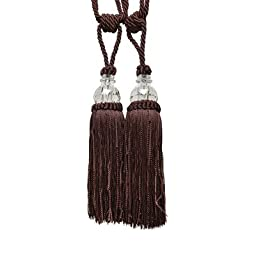 Textiles Plus Krista Tassel Curtain Tieback, Chocolate