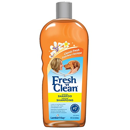 Fresh 'n Clean Lambert Kay Scented Dog Shampoo, 18 Oz (Best Smelling Puppy Shampoo)