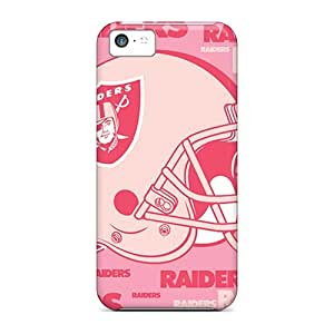 Awesome Oakland Raiders Flip Case With Fashion Design For Iphone 5c