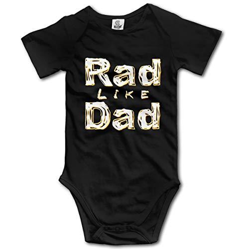 XHX Newborn Infant Rad Like Dad6 Short Sleeve Romper Onesie Bodysuit Jumpsuit ()