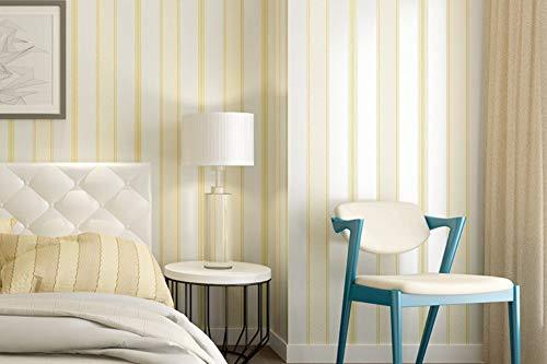 (Wallpaper Yellow Wide Stripe Non-Woven Modern Minimalist Wallpaper for Livingroom Bedroom Home Decoration Paper Roll)