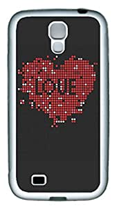 Samsung Galaxy S4 Case TPU Customized Unique Print Design Red Heart Love Case Cover For Samsung Galaxy S4