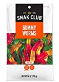 Snak Club Gummy Worms, 4 ounce bags, (Pack of 12)