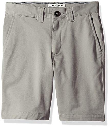 Billabong Boys' Carter Stretch Shorts Grey Heather - Billabong Shorts Fly Zip