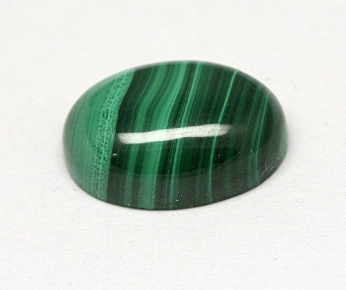 16.53CTS Green Malachite Oval Cabochon 17.67x12.85mm Small Green Striped Stone ()