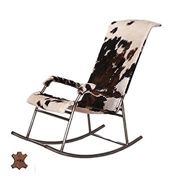 Hogar Decora Stuhl 51 X 87 X 98 Cm Schaukelstuhl Leder Kuh Amazon