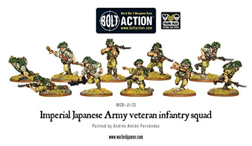 (Warlord Games, Bolt Action, Japanese Veteran Infantry Squad)