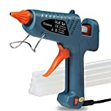 Ejoyous 100 Watt Hot Melt Glue Gun Kit for DIY Small Craft and Quick Repairs in Home & Office, 10 Pics Transparent Adhesive Glue Sticks Included (Dark Green)