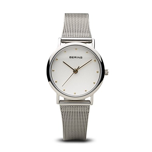 BERING Time 13426-001 Womens Classic Collection Watch with Mesh Band and scratch resistant sapphire crystal. Designed in Denmark.