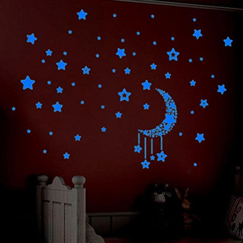 - Sothread A Set Glow In The Dark Plastic Stars Night Sky Stickers Kids Ceiling Wall Room